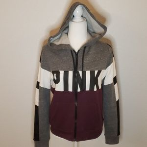 VS Pink Zip-up Hoodie Size Medium